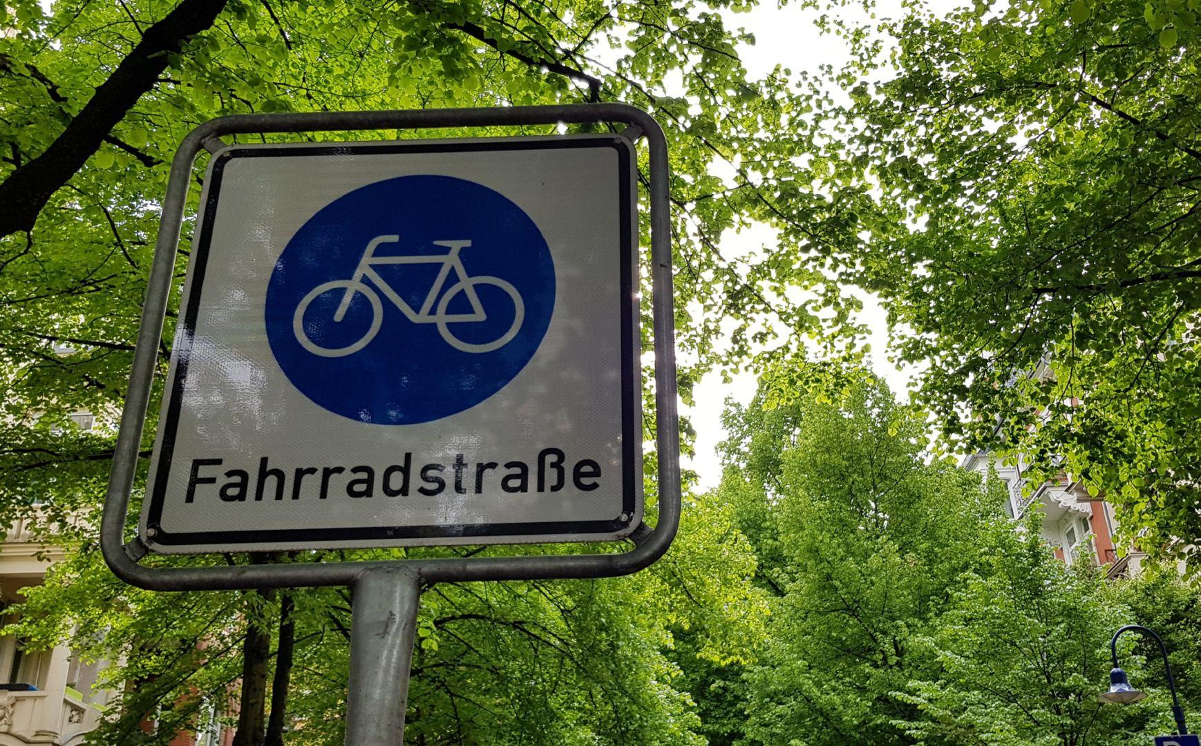 Fahrradstraße in Wiesbaden