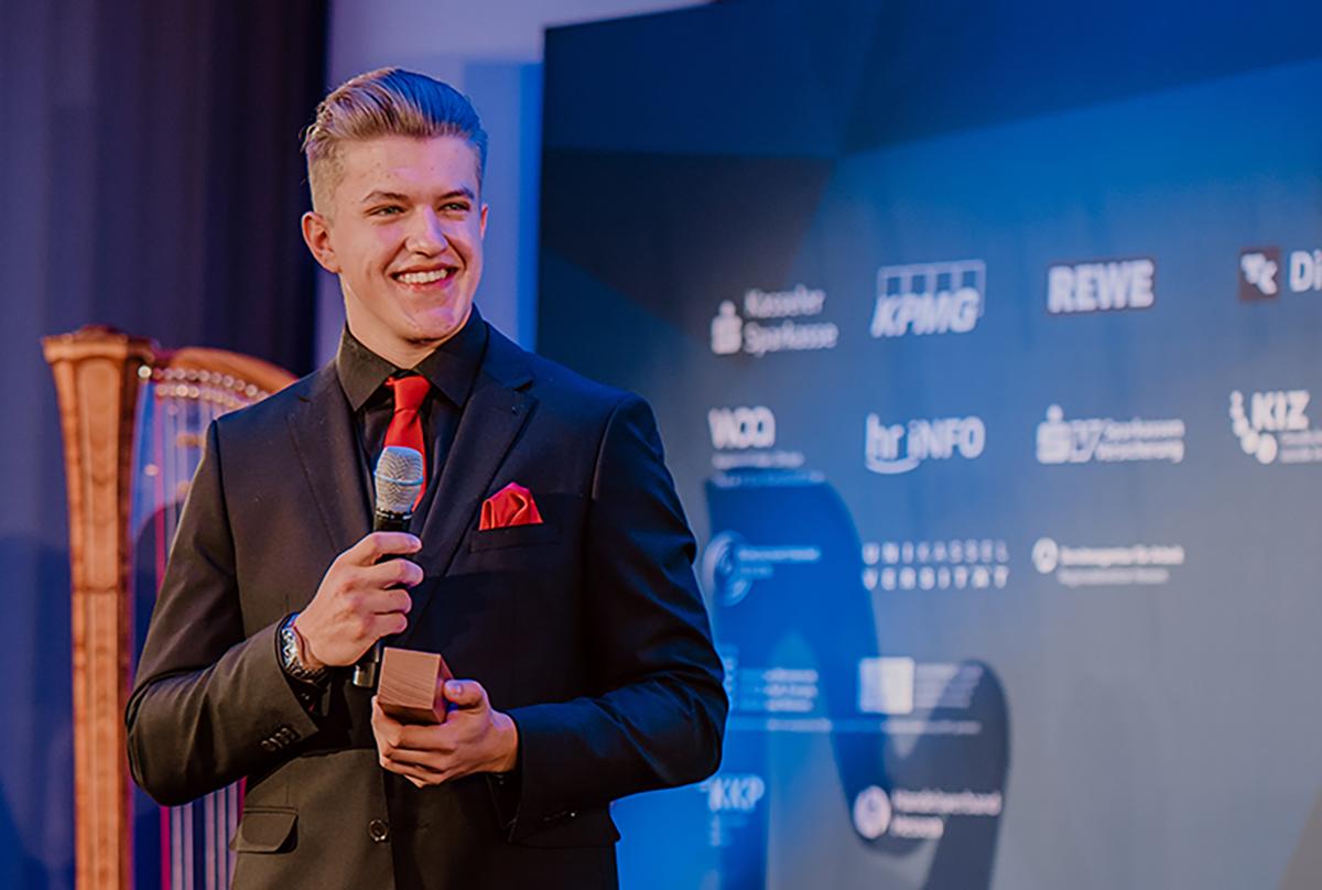 Felix Kläres wurde beim Hessischen Gründerpreis